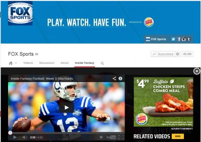 Fox Sports channel on YouTube