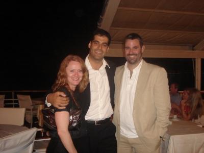 Fran McGivern, Filmmaster EP Karim Bartoletti and Tom Dunlap