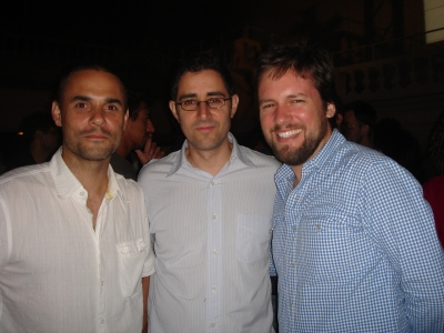 The TBWA triumvirate: Gerry Graf, Ian Reichenthal and Scott Vitrone, at the Leo Burnett party