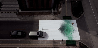 China Environmental Protection Foundation's 'Green Pedestrian Crossing' campaign by DDB, Shanghai won a gold Lion at Cannes this year.