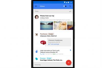 Google's Inbox app pulls important information from emails into a easy-to-read feed.