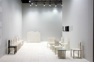 Artek's new slogan is One Chair is Enough. They presented Shigeru Ban's 10-unit system furniture.