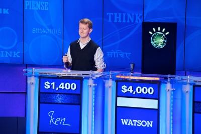 Ken Jennings battles IBM's Watson on 'Jeopardy' in 2011.