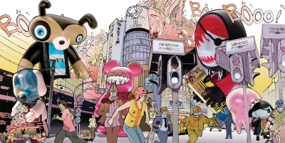 For U.K.-based mag Computer, illustration about the influx and popularity of designer toys