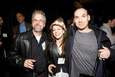 a-political's Jimmy Siegal, Lauri Aloi, executive producer at O Positive and Stephen Rutterford, Brooklyn Brothers creative partner and CR50 #726