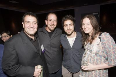 Biscuit director Noam Murro, Reprizent president Michael Arkin, Ziegler's rep Jonathan Jakubowicz and Believe Media executive producer Katie Matson