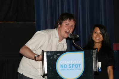 Co-writer/star of the Best Overall film Tim Key and Creativity's Ann-Christine Diaz