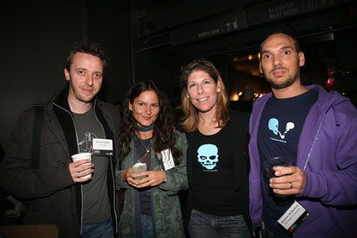 Johnny Vulkan of Anomaly, Louisa St. Pierre of Bernstein & Andriulli and Elizabeth Talerman and Stephen Rutterford of the Brooklyn Brothers