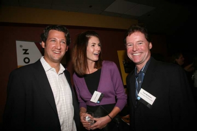 Josh Brown of Screenvision, Sherri Brown of Kodak and Tom Bracken from Thomson Technicolor (photo: Doug Goodman)