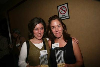 SoundHound's Andrea Rhodes and Jill Van Note (photo: Doug Goodman)
