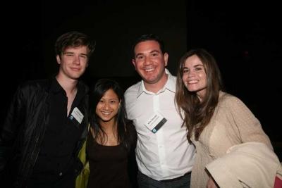 Cody Allen, Ann C. Diaz, Human's Marc Altschuler and Teressa Iezzi (photo: Doug Goodman)