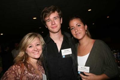 Anonymous Content's Lisa Sabatino, director Cody Allen and Alex Soler (photo: Doug Goodman)