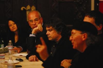From Left: Creativity's Ann-Christine Diaz, @radical Media's Jon Kamen, Area Code's Frank Lantz and R/GA's Bob Greenberg