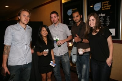 Scott Campbell of Mama Tried Design, with Creativity's Ann-Christine Diaz, Jeff Beer, Kiran Aditham and Teressa Iezzi.