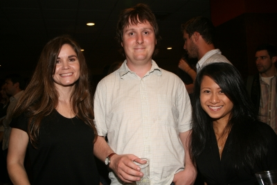 Creativity's Teressa Iezzi, writer/actor Tim Key and Creativity's Ann-Christine Diaz.