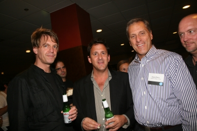 Graham Fink of M&C Saatchi, John Rudavsky, David Perry of Saatchi NY and Go Film's Robert Wherry.