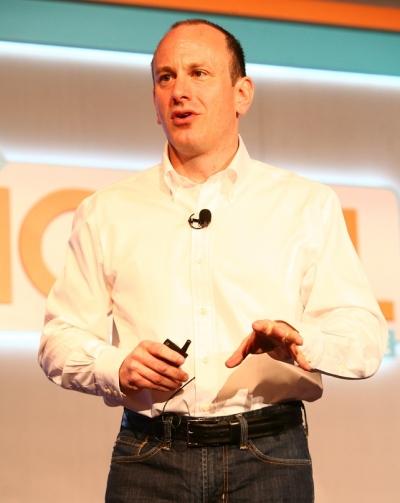 John Harrobin, Verizon's VP-marketing communications and CRM, speaks at the Ad Age Digital Conference Tuesday morningin New York.