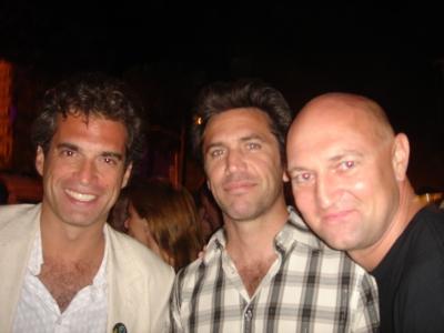La Comunidad's Jose Molla (center) and friends