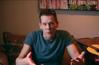 Kevin Bacon in a video for a Canon campaign.
