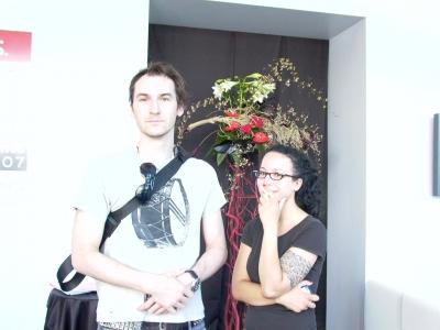 Barbarian group CEO Benjamin Palmer and new business coordinator Eva McCloskey