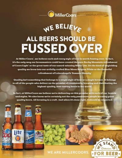 MillerCoors Twitter Message