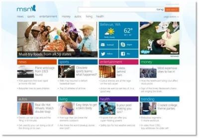 Redesigned MSN portal