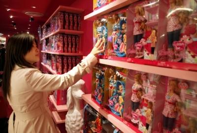 Mattel has opened a Barbie megastore in Shanghai