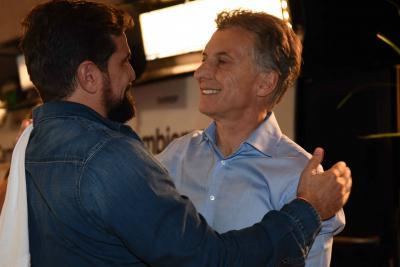 Joaquin Molla and Mauricio Macri
