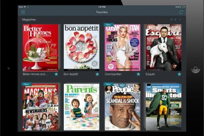 Magazine tablet editions on the Next Issue Media app.