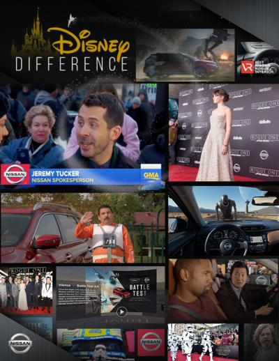 A promotional piece for Disney's program encouraging marketers to take advantage of many elements of its media empire. Nissan paid to advertise its Rogue in conjunction with 'Star Wars: Rogue One' at events, on ABC and elsewhere.