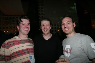 Nick Parish, Creativity's newest staffer; Guy Barnett, Brooklyn Brothers; Stephen Rutherford, Freelance Creative