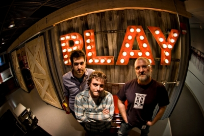 Todd Vanderlin, Ryan Habbyshaw and Pete Favat