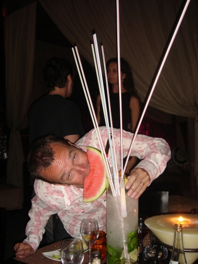 Forget the booze, I'm going for the watermelon!
