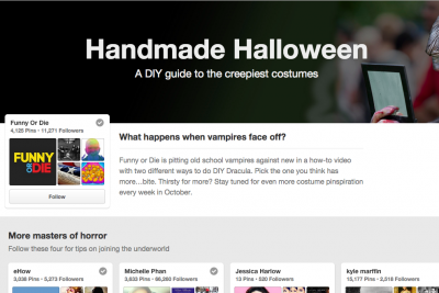 Pinterest's Halloween 'Pin Pick' with Funny or Die