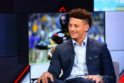 Patrick Mahomes II on the set of SportsCenter on April 11, 2017
