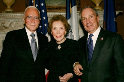 Robert Gray with Nancy Reagan and Michael Bloomberg.
