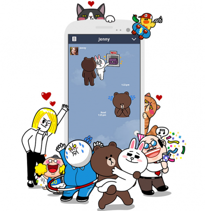 Japan's Line: Stickers aren't just for kids