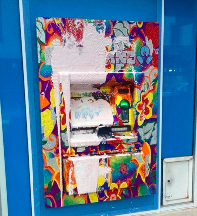 The paint attack on a GAYTM in New Zealand.