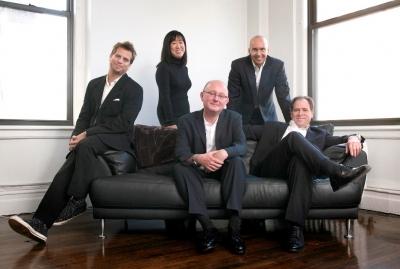 Station Film partners (from left): Michael DiGirolamo, Caroline Gibney, Adam Lyne, Stephen Orent, Tom Rossano