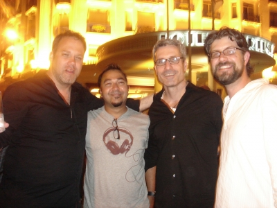 Droga5's Royer, Lowe's Kamble, O Positive co-founder/director Jim Jenkins and Lowe's Lundberg
