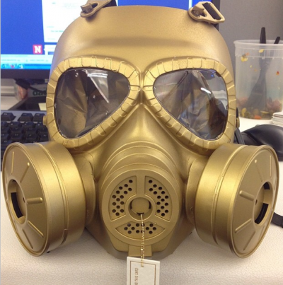 What's this gas mask doing here? (Click on the image to find out.)