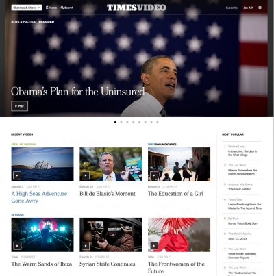 The New York Times is introducing a redesign of its video hub.