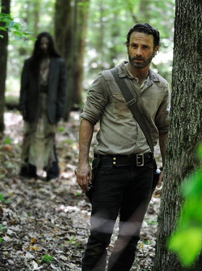 Rick Grimes (Andrew Lincoln) in the fourth season's first episode
