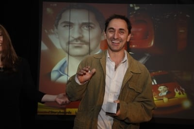 David Droga, chairman, Droga5 accepts his award for the Tap Project