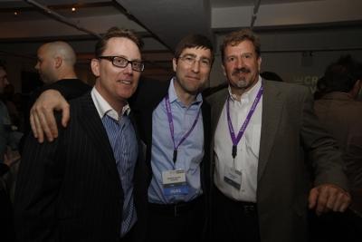 Thomas Evans, SVP, Marketing Media Distributors, Creativity's Roberto Guerra and Bandpro's Jim Hegadorn
