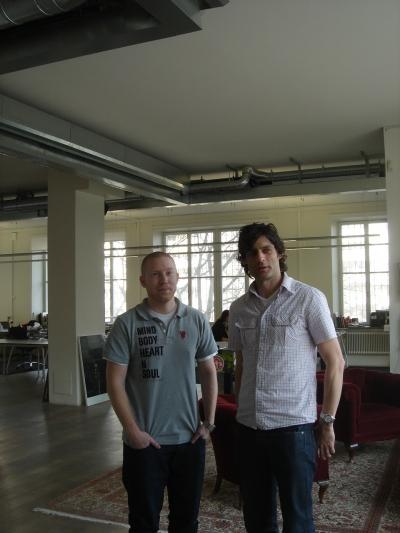 Farfar's web director Per Hansson (left) and CD Jon Dranger