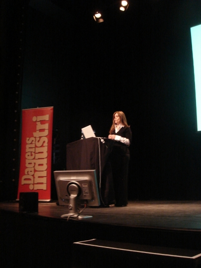 Creativity editor Teressa Iezzi speaks at the Guldagget festival