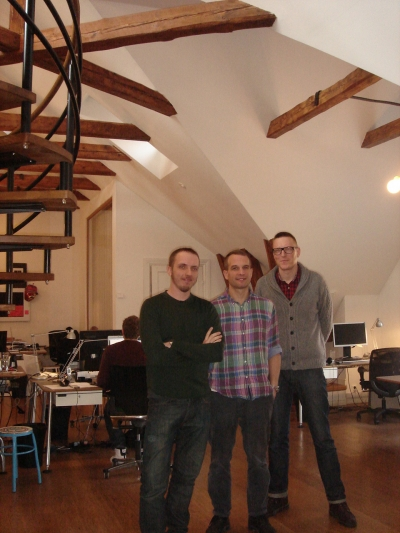 From left: B-Reel's Petter Westlund, Pelle Nilsson and Anders Wahlquist