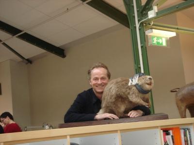 Lowe Brindfors creative chief Hakan Engler and friend