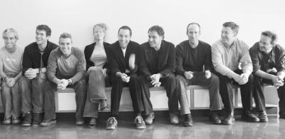 Sid Lee partners From Left: Philippe Meunier, Kristian Manchester, Jean-Francois Fortin, Eva Van Den Bulcke, Jean-Francois Bouchard, Bertrand Cesvet, Martin Gauthier, Daniel Fortier, Francois LaCoursiere